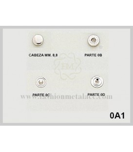 Broche presión O-A-1 (Paquetes de 500 Uds.)