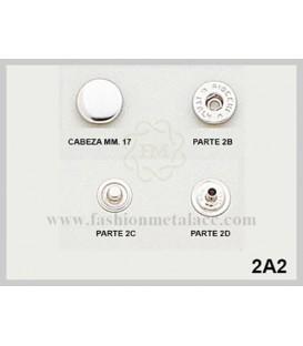 Broche presión 2-A-2 (Paquetes de 500 Uds.)