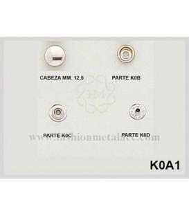 Broche presión K-0-A-1(Paquetes de 500 Uds.)