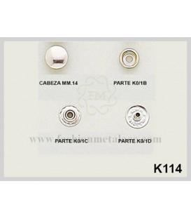 Broche presión K-114 (Paquetes de 500 Uds.)