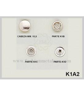 Broche presión K-1-A-2 (Paquetes de 500 Uds.)