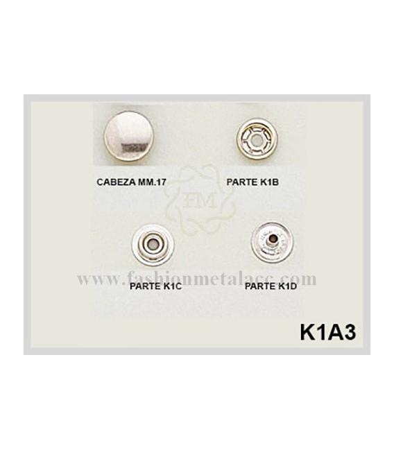 Broche presión K-1-A-3 (Paquetes de 500 Uds.)