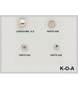 Broche presión K-0-A (Paquetes de 500 Uds.)