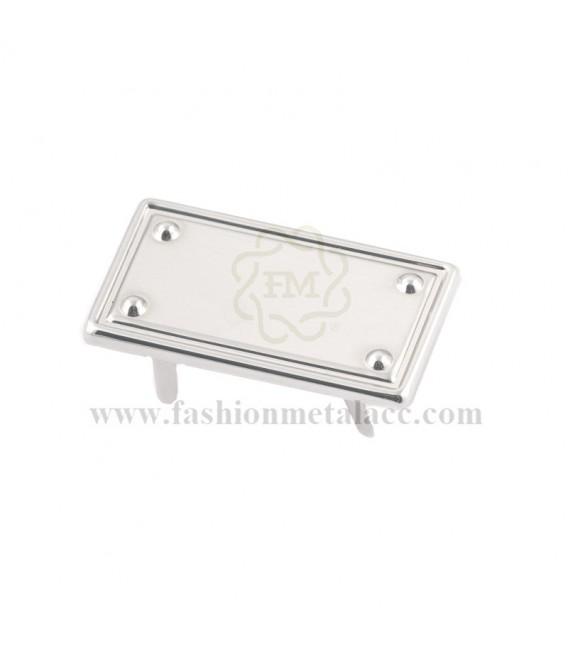 Aplique rectangular con garras 3158