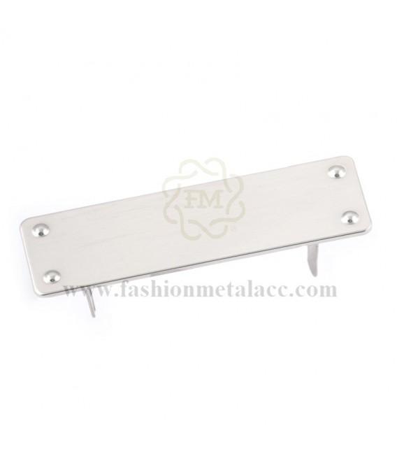 Aplique rectangular con garras 3186